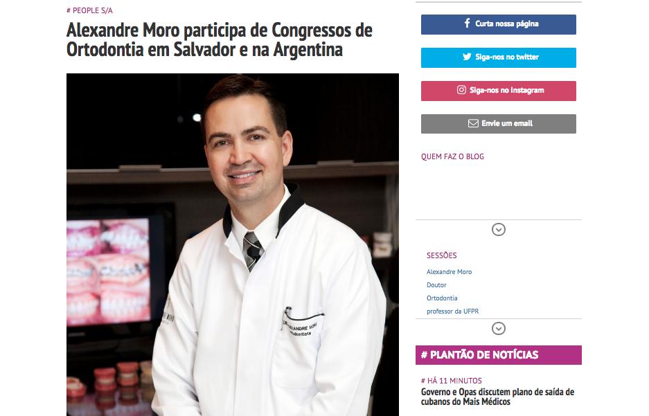 Alexandre Moro participa de Congressos de Ortodontia em Salvador e na Argentina